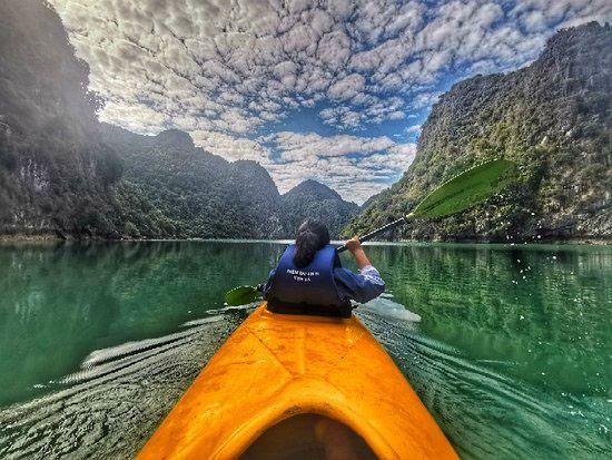 Chèo thuyền kayak 1