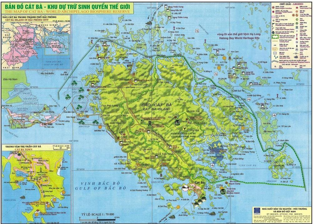 Bản đồ du lịch quần đảo Cát Bà