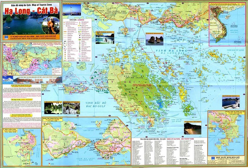 Bản đồ du lịch Hạ Long-Cát Bà